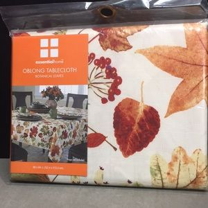 Essential Home Tablecloth Autumn Botanicals OBLONG